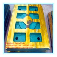 Jaw crusher wear parts jaw crusher plate from China foundry