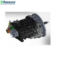 5 speed 1300Nm auto transmission gear AMT ev motor gearbox for truck bus vehicle 25 ton below