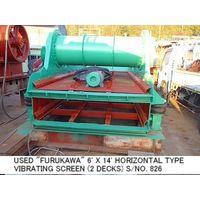 USED FURUKAWA 1800MM X 4200MM (6FT X 14FT) HORIZONTAL TYPE VIBRATING SCREEN (2 DECKS) S/NO. 826 thumbnail image