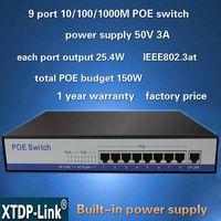 8port gigabit ethernet PoE switch for HD ip camera