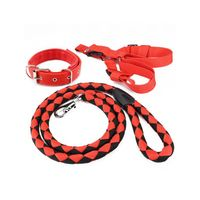 Wholesale Strong Dog Leash Collar Harness Sets For Middle Large Dogs