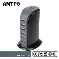 MFI 6 Port USB charger fast charging station usb hub desktop charger 40W