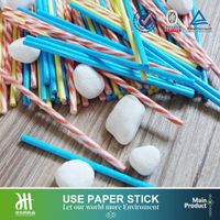 Colorful cotton buds paper stick
