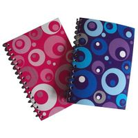 Colorful spiral notebook for school