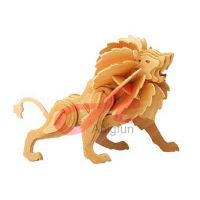 wooden craft model animal wooden toy Lion thumbnail image