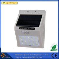 China wholesale wall mounted wireless solar motion light durable 20 LED solar wall lamp panel light thumbnail image