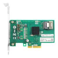 Linkreal 4 Port 6Gb/s PCIe x4 to SATA 3 RAID Controller Card