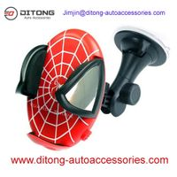 Spiderman pattern ABS material car mobile holder