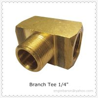 "Brass Branch Tee,1/4"",FNPT x FNPT x MNPT,1200 PSI,Free Express Shipping to US,Factory Direct,200pcs/"