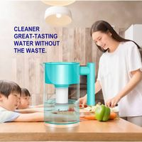 Water Filter Pitcher with 1 Filter, Long-Lasting, 5 Times Lifetime Filtration Jug, Reduces Lead