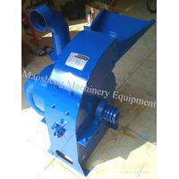 Wood Crusher Machine crushing biomass stalks, wood branches for briquetting
