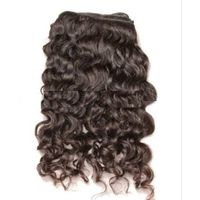 Natural curly remy human hair weaving