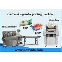 fruits and vegetable packing and wrapping machine with tray thumbnail image