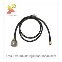 C&T RF Antennas Inc - RF coax cable assembly SMA male to N-Type connector antenna RF cable adapter thumbnail image
