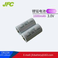 3.0V battery CR123A,123a battery,KTC CR123A 1600mAh