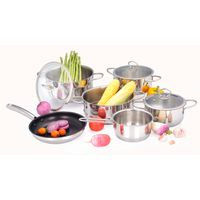 Stainless steel cookware 10 pcs set