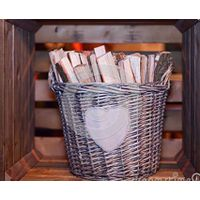 Oval grey firwood willow baskets & storage baskets