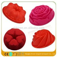 Big Flower Shaped silicone flower cake mold