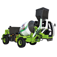 2.4 Cubic concrete mixer truck with automatic loading system