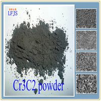 chromium carbide powder with rhombic system  structure is undiss oiuble in water  resistant to acid