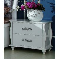 High gloss white bedside