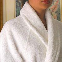 coral fleece bathrobe solid and printed