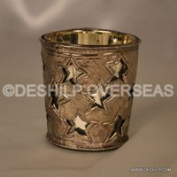 Glass Metal Fitting Votive