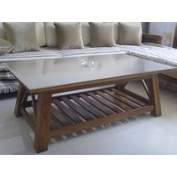 Coffee Table & Sofabed Set: living room furniture, wooden furniture, solid oak furniture thumbnail image