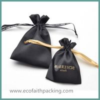 satin drawstring gift pouch satin jewelry bag