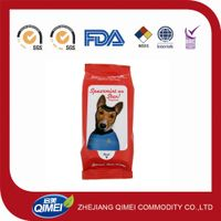 Popular in Europe market pet wet wipes