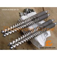 manufacturing concial twin screw barrel/ conical double screw&cyclinder