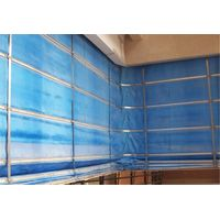 Fireproof rolling curtain