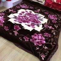 Flower Print Raschel Blanket 100% Polyester Warm Blanket thumbnail image