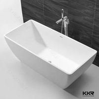 kingkonree solid surface acrylic small-sitting-bathtub