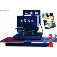 Pneumatic shaking head double stations heat transfer machine