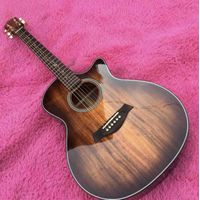 New Cutaway 41 Inch Gk24ce Rosewood Fingerboard Solid Koa Acoustic Electric Guitar thumbnail image