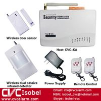 2012 hot and popular 6 zone home wireless GSM alarm system