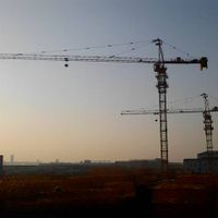 TC6015-8 Building Tower Crane For Construction , 65m Jib Length