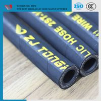 en 853 1sn good quality flexible air rubber hose 1sn steel wire reinforced hydraulic rubber hose rub