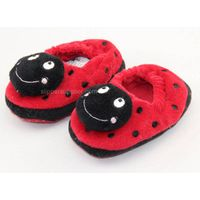 Kids 3D easy velour enclosed back slippers
