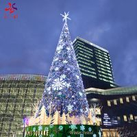 outdoor giant PVC artificial Christmas tree with led lights