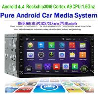 2Din universal head unit car radio dvd player GPS Navi with pure android 4.4 7'' capacitive touchscr