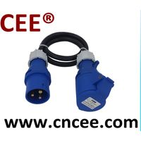 CEE plug and socket with cable