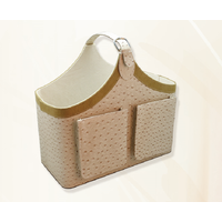 High-quality PU leather storage basket