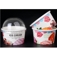 Custom Printed Clear Disposable Plastic Ice Cream / Yogurt Cup
