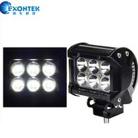4X4 offroad LED Work Light Bar 18W Driving Headlight for Jeep ATV Truck Boat agricultural machinery
