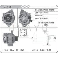 alternator for toyota paseo 27060-11270 13486