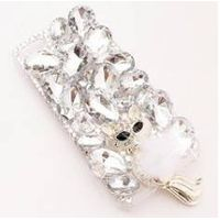 [DDPOP] Fox Tail Smartphone Case Fashionable Crystal Phone Accessary for All Phone Brand