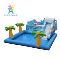 Customized Inflatable water Slide ,Inflatable Fun City For Kids Funny Park, inflatable marine castle thumbnail image