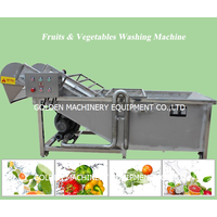 Automatic commercial industrial apple ginger carrot potato fruit vegetable washing machine